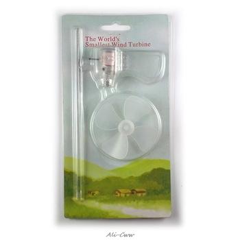 Generator wiatrowy turbina LED narzędzia dydaktyczne próbka Model najmniejszy Mini 360 stopni tanie i dobre opinie Generator energii wiatru