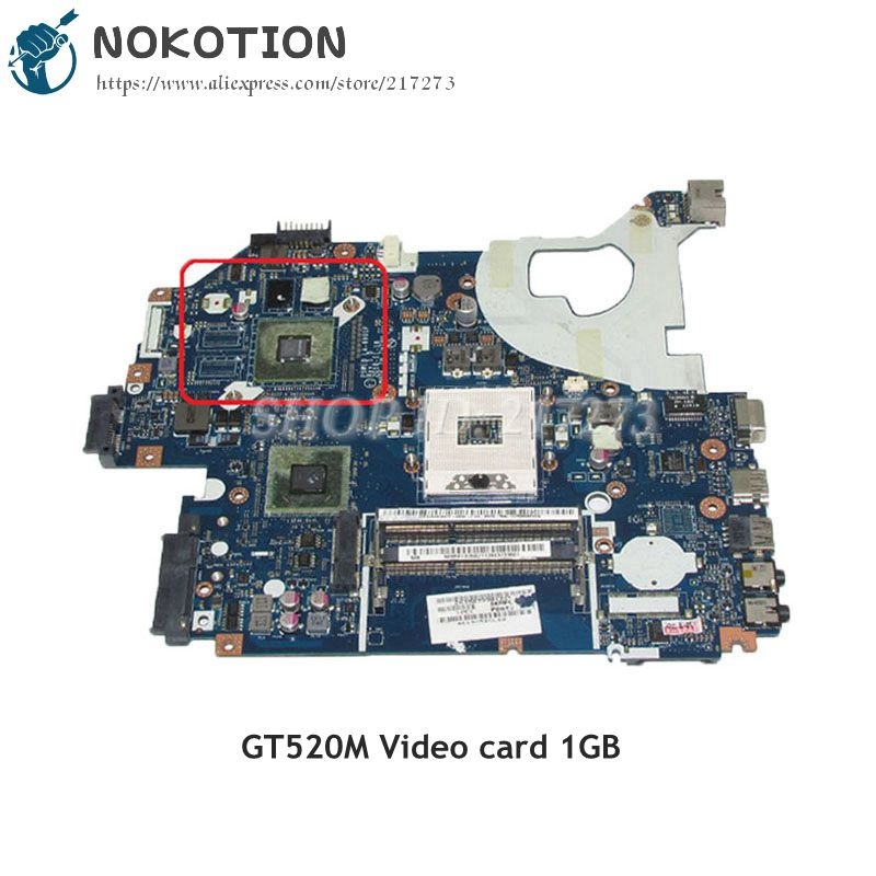 NOKOTION P5WE0 LA-6901P MBRFF02002 Laptop Motherboard For Acer aspire 5750 5755G NV57H MAIN BOARD HM65 GT520M 1GB mbrr706001 mb rr706 001 laptop motherboard fit for acer aspire 5749 series da0zrlmb6d0 c0 hm65