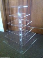 Event Party Supplies Details About 6 TIER CLEAR ACRYLIC SQUARE CUPCAKE CUP CAKE STAND WEDDING PARTY