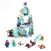 316pcs JG301 Diy Anna Elsa Snow Queen Elsa S Sparkling Ice Castle Block Compatible With