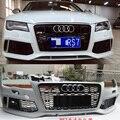 A7 Передний Обвес (Передний Бампер, Противотуманные Фары Маска, Передняя Губа, Решетка радиатора для Audi A7 Передний Бампер 2011-2015 RS7 Стиль