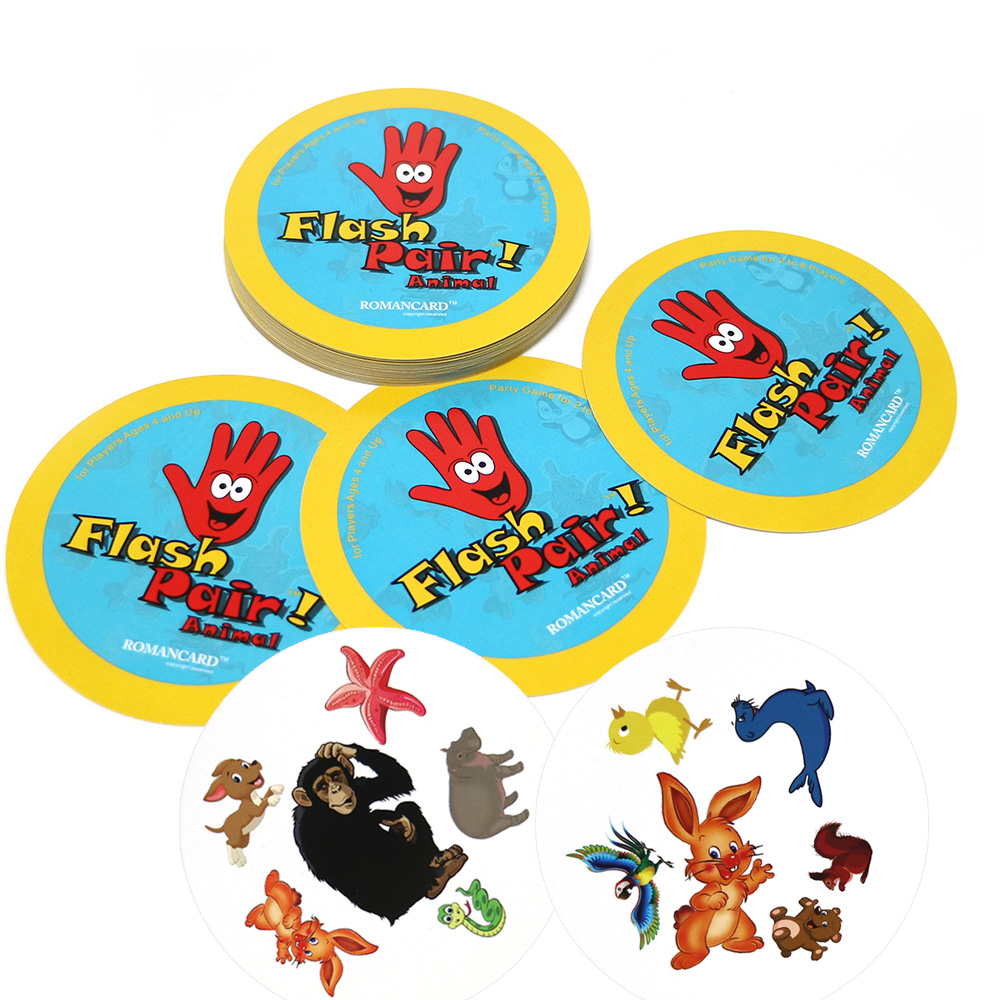 English Version Flash Pair Animals Board Games Spot For Home Party Playing Card Entertainment It Cards Game