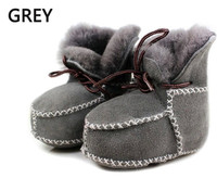 Fur One Piece Real Goat Fur Baby Boy Winter Snow Boots 2015 Brand Kids Baby Shoes