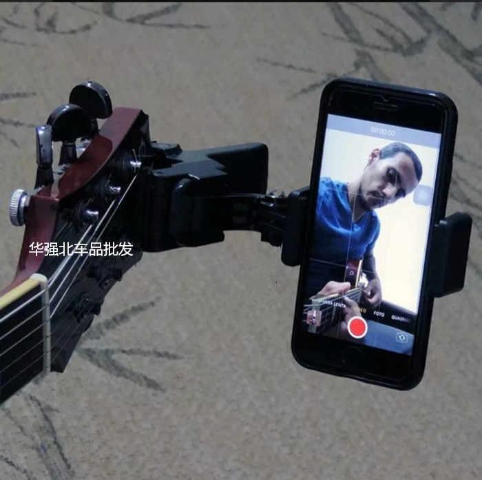 الغيتار مشبك للرأس حامل هاتف المحمول بث مباشر Mobiile حامل جوّال بلاستيكي الوقوف ترايبود كليب رئيس و الهاتف المحمول كليب