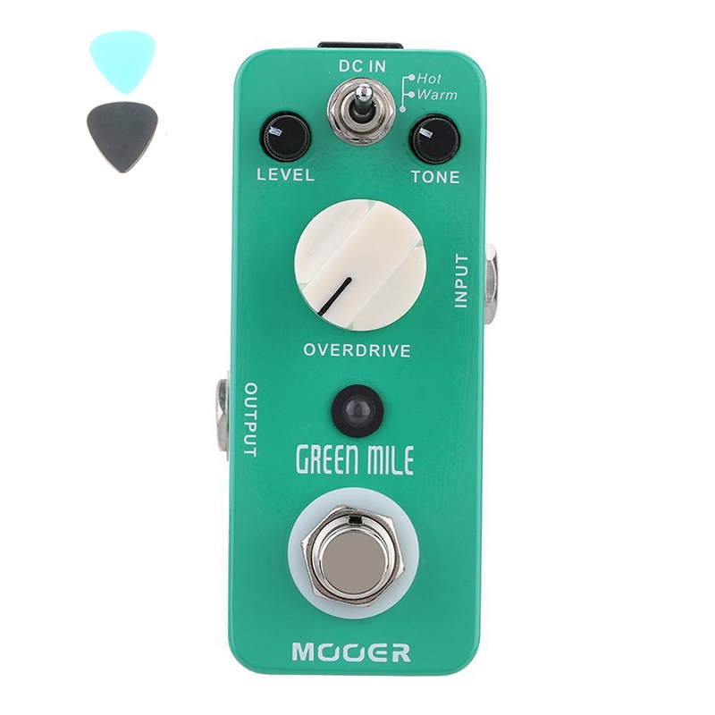 MOOER Green Mile Micro Mini Overdrive Electric Guitar Effect Pedal True Bypass Guitar Accessories agr 3 greenizer vintage overdrive guitar effect pedal aroma mini analogue guitar accessories with true bypass footswitch