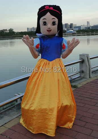 Cinderella Mascot costumes Adult Size High Qualtiy Snow White Cartoon Mascot Costume Fancy Dress Outfit for Halloween party even