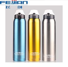 Stainless steel car water bottle outdoor insulation flask campaign leakproof portable large capacity motor 1000 ml thermoses