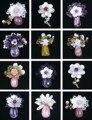 Высокое качество природный Аметист и Розовый кварц и Оливин & Фиолетовый призрак кристалл и Желтый Кварц Rutilated цветочный дизайн камень броши