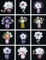 High quality natural Amethyst &Rose quartz&Olivine&Purple ghost crystal &Yellow Quartz Rutilated flower design stone brooches