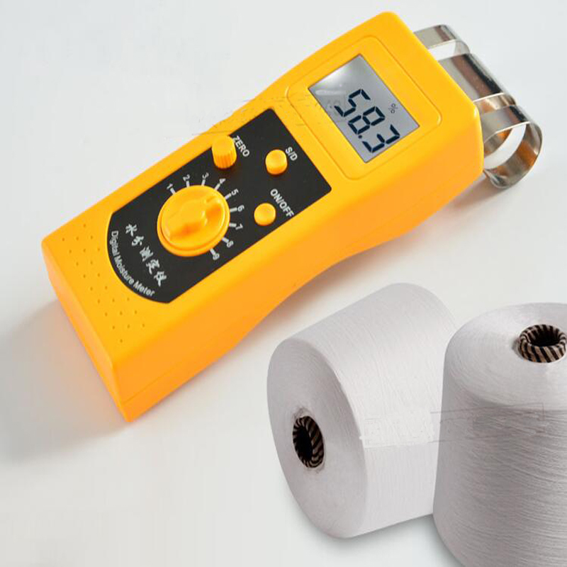 Profession Textile Moisture Meter Clothing Fabric Digital Moisture Measuring Instrument Cotton Moisture Regain Tester DM200TProfession Textile Moisture Meter Clothing Fabric Digital Moisture Measuring Instrument Cotton Moisture Regain Tester DM200T