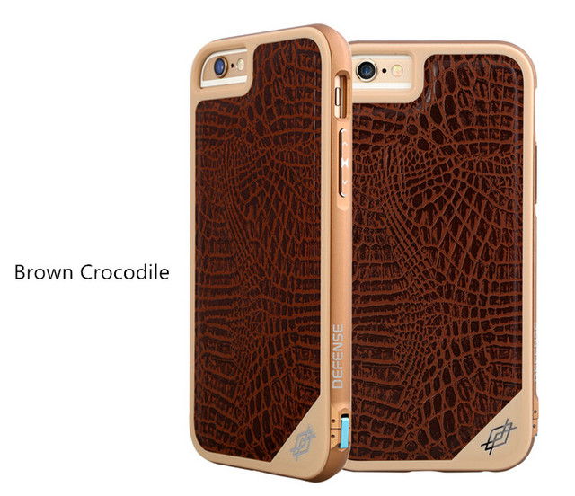 cheap for discount 66651 2dca8 US $29.99  Original X doria Defense LUX Case Carbon Fiber Leather Back  Cover Metal Frame Protective Shell for Apple iPhone 6 6s 4.7 on  Aliexpress.com ...