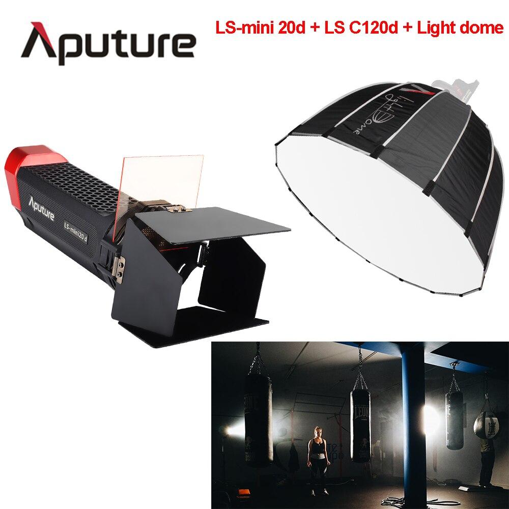 Aputure LS LS-mini 20d backlight LS C120d+Light dome key light COB led studio light photo film shooting light with V-mount mini world diy ls mn1060