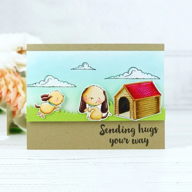 Jc Rubber Stamps and Metal Cutting Dies Scrapbooking Craft House Pet Dog 39 s Home Stencil for Card Making Album Sheet Decoration in Cutting Dies from Home amp Garden