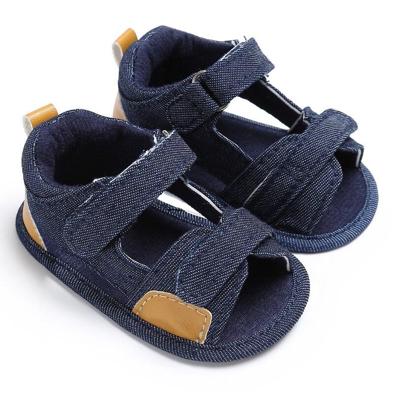 Baby Boy Girls Sandal Summer Moccasins Shoes Casual Cotton Bottom Anti-Slip Sandal 0-18M