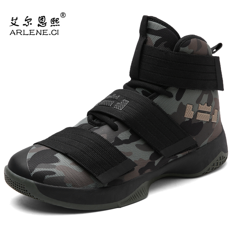 Basketball-Shoes Sneaker Lebron Camouflage Women New Breathable Couples