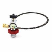 PCP Scuba Diving Valve CO2 Filling Station Refill Adapter Small Gauge G5/8 Male 300bar Air Inflation to Paintball Small HPA Tank