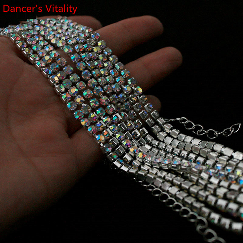 New Belly Dance Costume Jewelry Crystal Rhinestone Belly Dance Belt Waist Chain