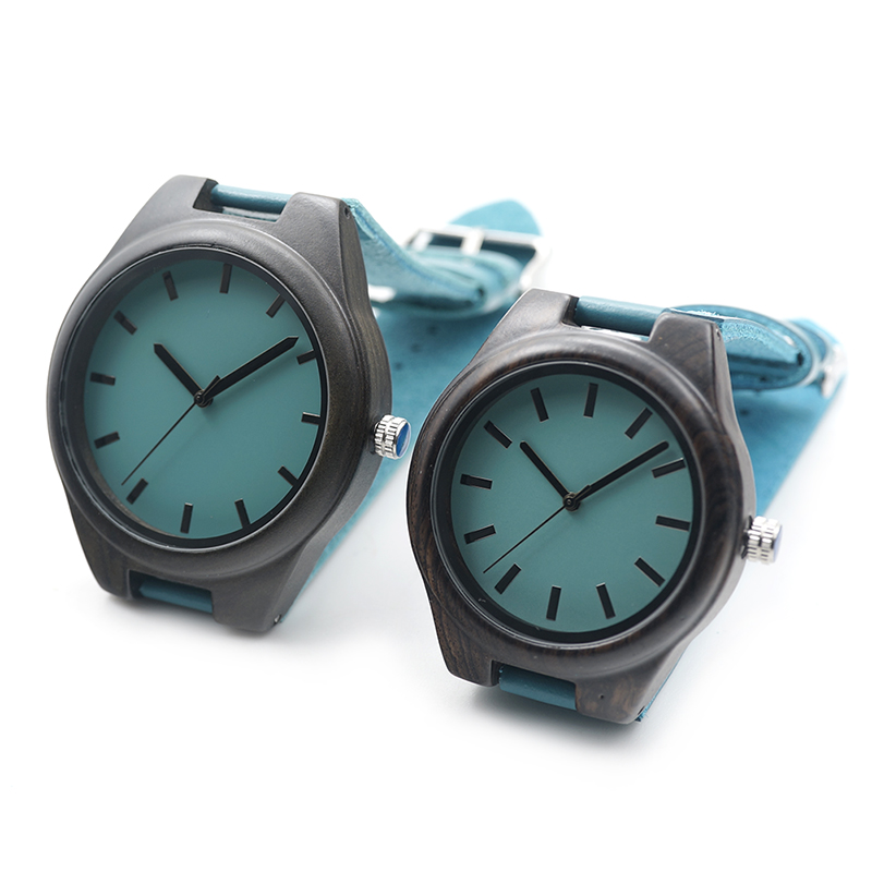 BOBO BIRD Ebony Wood Couple's Quartz Watch Lightweight Unique Relojes Mujer With Japan Miyota Movement For Gift