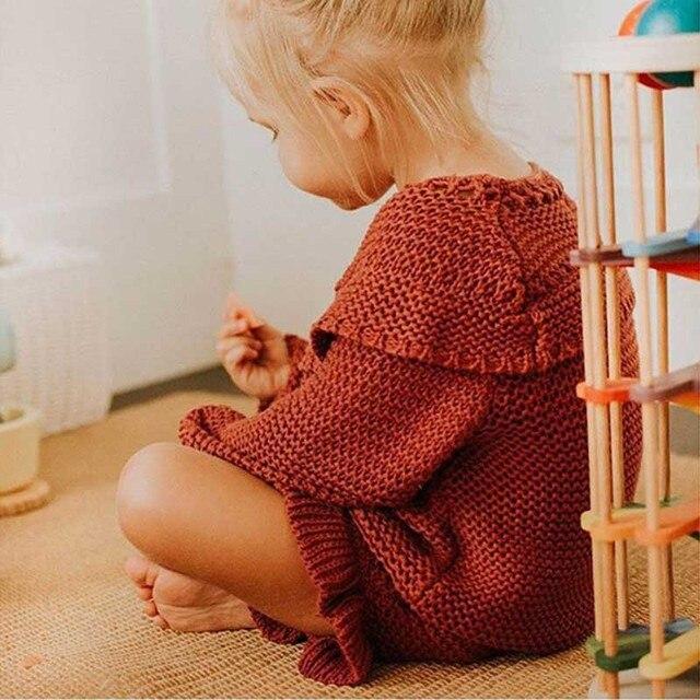 Baby stricken Kleidung Sets Zwei Mädchen Anzug Stricken 0-2 Jahr Baumwolle Baby Langarm Bluse + Lotus Blatt shorts Baby Kleidung Set