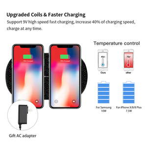 Image 3 - Fast Wireless Charger 10w Nillkin for 2 Phone Qi Wireless Charging Pad for iPhone XS/X/8 Mi 9 For Samsung S8/S9/S10 Gift adapter