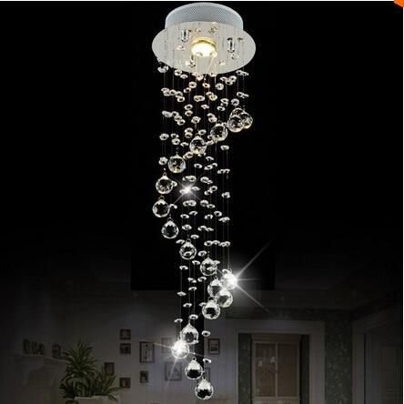 modern clear waterford spiral sphere led lustre crystal chandelier ceiling lamp home decor. Black Bedroom Furniture Sets. Home Design Ideas
