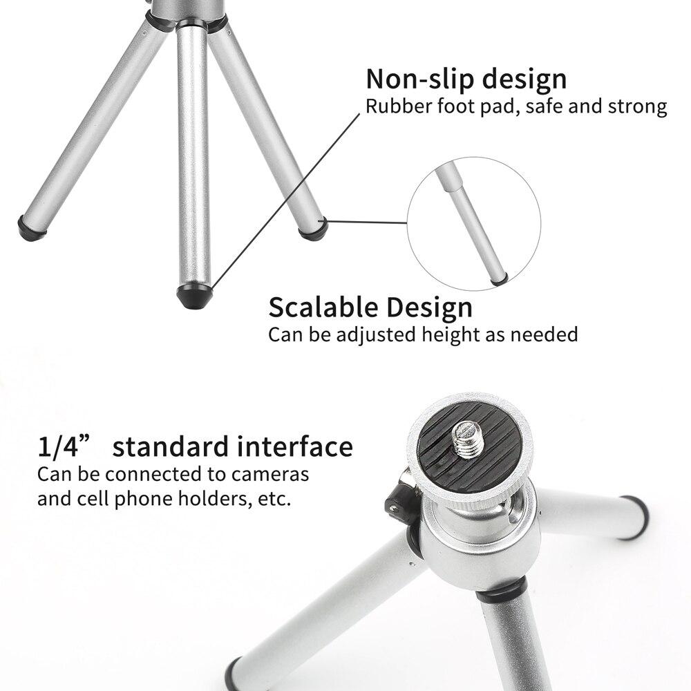 SPARARE Flessibile Mini Treppiede In Alluminio per il iPhone X 8 7 6S Xiaomi Samsung Huawei Sony telefono Cellulare Treppiede per il Mobile Smartphone