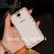 Luxury Bling Bling Cell Phone Cover Clear Crystal Case For Samsung Galaxy Grand Duos S Duos S7562 S3 S4 Mini S5 S6 Note 2 3 4