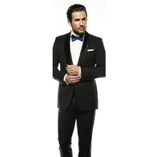 modern mens wear black tuxedo slim fit tailor men suits black for wedding groom dress 2017 fashion