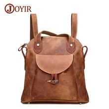 Joyir famous brand backpack genuine leather bags women backpacks solid vintage girls school bags travel backpacks 3011