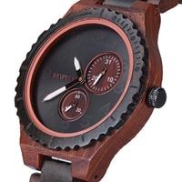 BEWELL Wood Watch Oringinal Wood Watch Stop Watches Quartz Wristwatch horloges mannen Top Brand Luxury Unique Mens Watches 154A