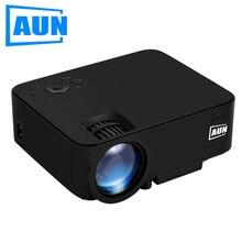 Aun proyector 1500 lúmenes am200 (opcional Android Proyector WIFI Incorporado) para cine en Casa Con HDMI VGA USB SD Negro Q7