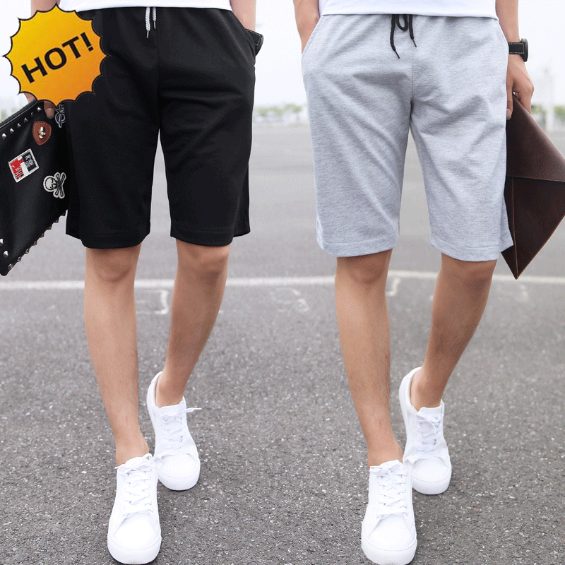 Fashion 2016 Men Slim Fit Joggers Casual Shorts City Street Boys Summer Solid Thin crossfit Shorts