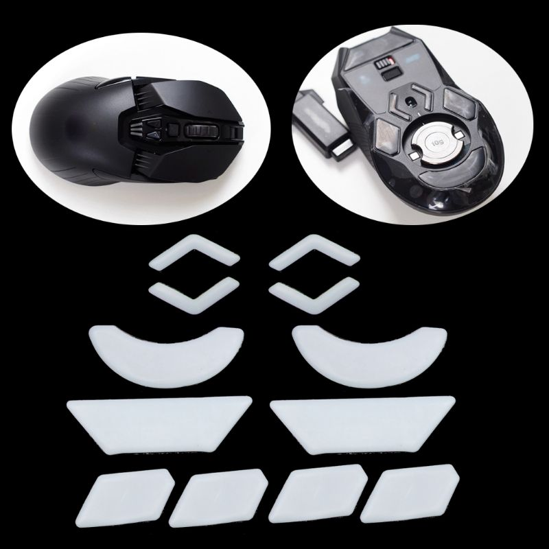 2 Sets/pack Tiger Gaming Mouse Feet Mouse Skate For Logitech G903 White Teflon Mouse Glides Curve Edge