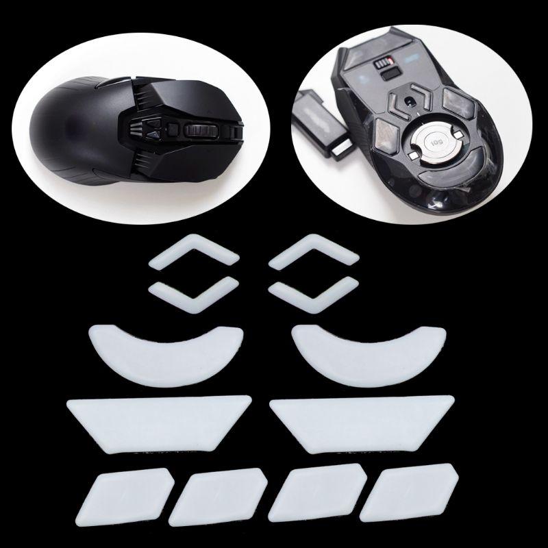 2 Sets/pack Tiger Gaming Mouse Feet Mouse Skate For Logitech G903 White Teflon Mouse Glides Curve Edge