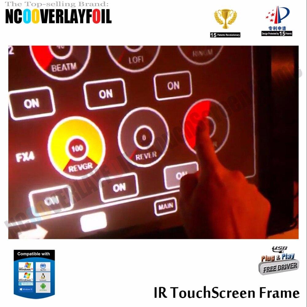 """4"""" ИК сенсорный экран Рамка с 10 точками Высокий Отклик для сенсорного ЖК/светодиодный монитор, ПК, сенсорная стена, киоски, игры"""