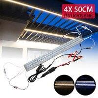 Four in one 144leds light bar 5630 rectangular aluminum LED light source DC12V ideal camping fishing light strip 50 CM Long