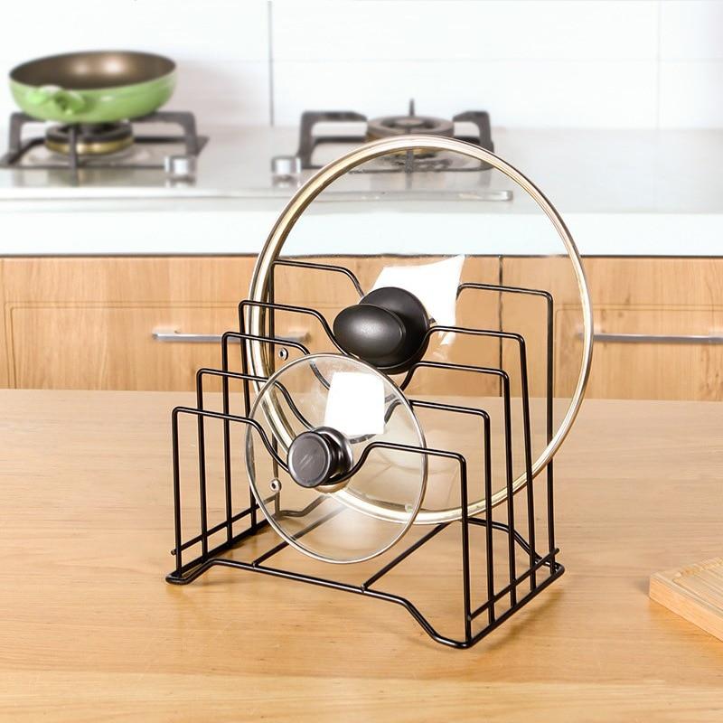 cabinet door organizer rack pot pan lid