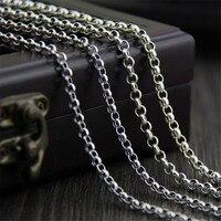 925 стерлингового серебра цепи Цепочки и ожерелья для Подвески Талисманы S925 o цепи 18 дюймов женские мужские ювелирные изделия подарок 3 мм 3.50 ...