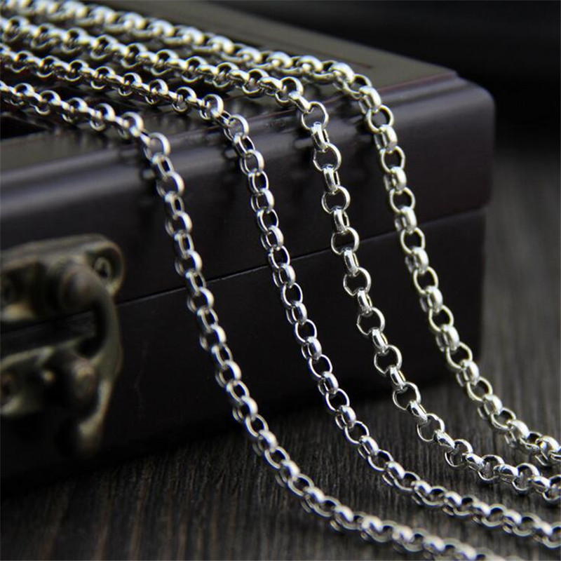 925 Sterling Silver Chain Necklace for Pendants Charms S925 O Chain 18 Inch Womens Mens Jewelry Gift 3mm 3.50mm 4mm TYC153