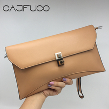 2017 Fashion Women Day Clutch Genuine Leather Colorful Metal Hasp Shoulder Bag Female Wristlet Evening Bag