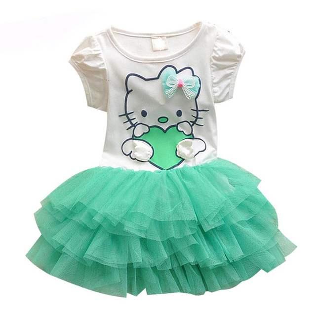 ee6805043 Online Shop Cool Design Hello Kitty Dress Princess Anna Elsa Dress Girl Baby  Elsa Costume Kids Princess Vestidos Infantis Dresses For Girls   Aliexpress  ...