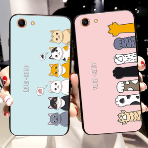 Luxury Fashion Cases For OPPO F1S A59 A71 A83 A1 A3S AX5 A7 Cartoon cat Animal character cover For OPPO F3 PLUS F5 A79 F7 F9(China)