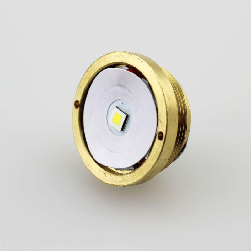 CREE XP-L Hola V2 1600lm 7135x8 conductor 1-modo latón Base LED Drop para C8 linterna