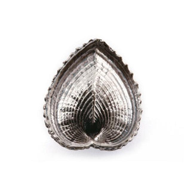 2 unids terne cáscara del metal de plata antiguo en forma de corazón arte de la historieta armario manijas del cajón hardware muebles manijas perillas antiguas