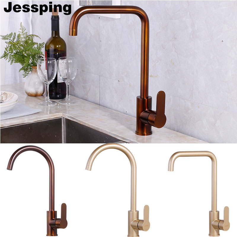 bronze champagne gold color kitchen faucet single handle specical very nice color