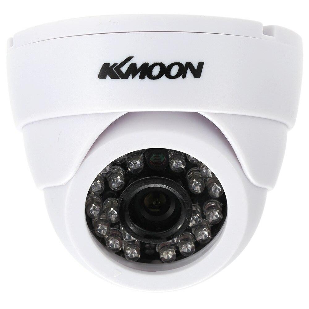 bilder für KKmoon 1/3 CMOS 1200TVL Indoor Sicherheit Cctv-kamera 24 IR LED Home Video Überwachungskamera HD Nachtsicht Video Mini Dome Cam