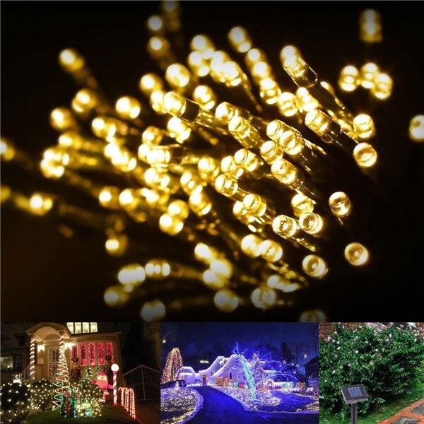 50 Bright Led Solar Fairy String Lights Garden Party Wedding Patio Outdoor