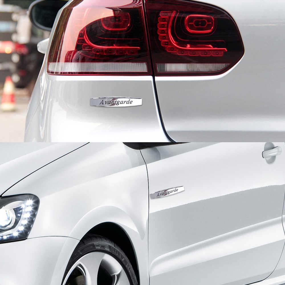 Için Avantgarde Logo araba çamurluk Sticker amblem rozeti araba Styling Mercedes Benz için W203 w204 W211 SLS GLK CLA C180 e200 E300 S320