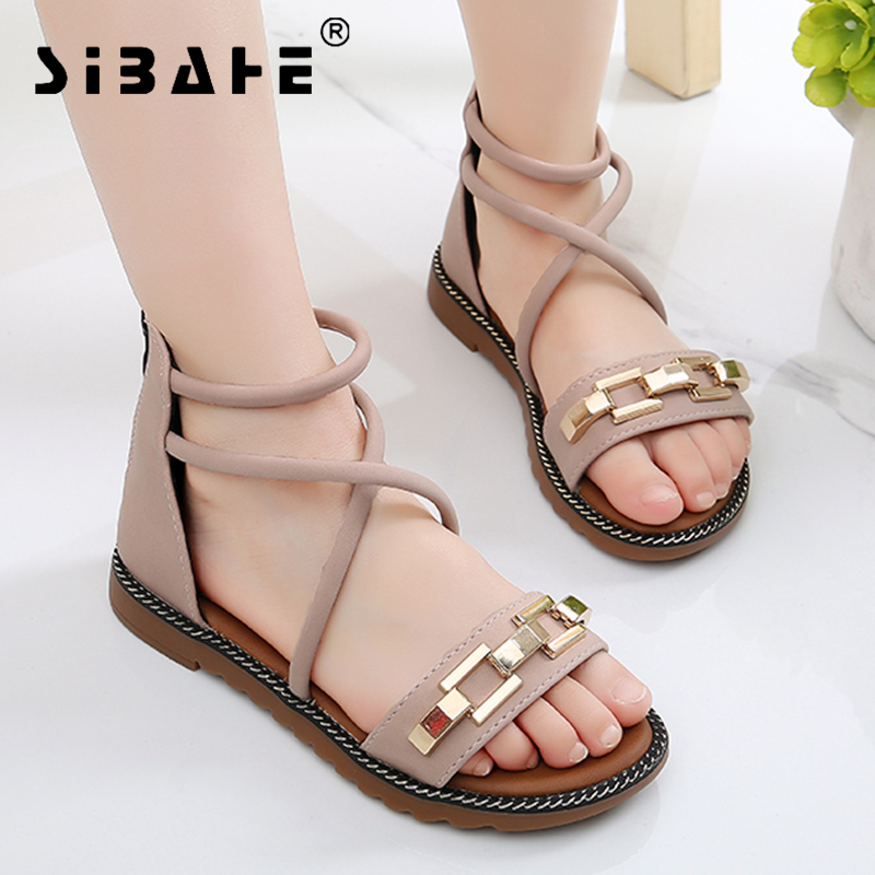Sibahe 2018 Nuevas Sandalias para Niñas Sandalias de Pu de Cuero - Zapatos de niños