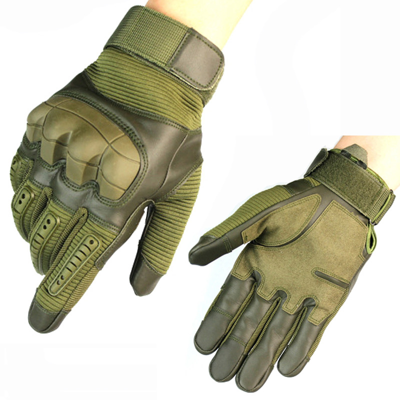 Exercise Gloves Types: Full Finger Type Tactical Gloves Military Army Combat